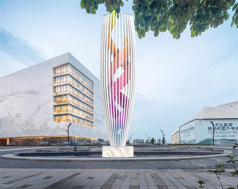大型不锈钢雕塑金属镂空城市景观雕塑