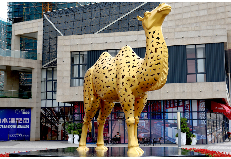 骆驼不锈钢雕塑金属动物景观广场公园雕塑