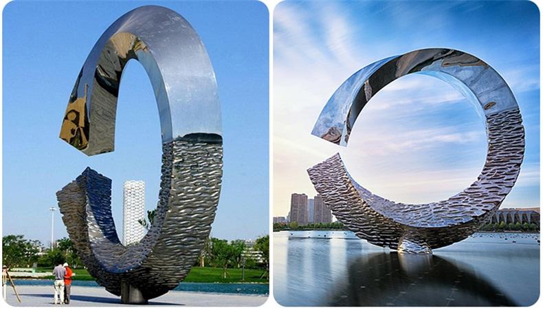 地标不锈钢雕塑园林景观城市广场雕塑
