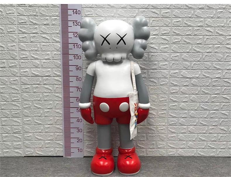 kaws玻璃钢雕塑卡通商场户外公仔摆件定制