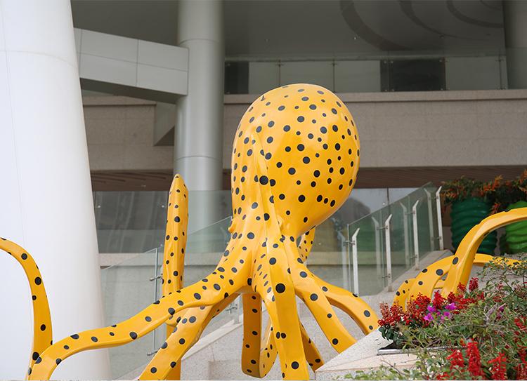 章鱼玻璃钢雕塑大型造型广场主体摆件