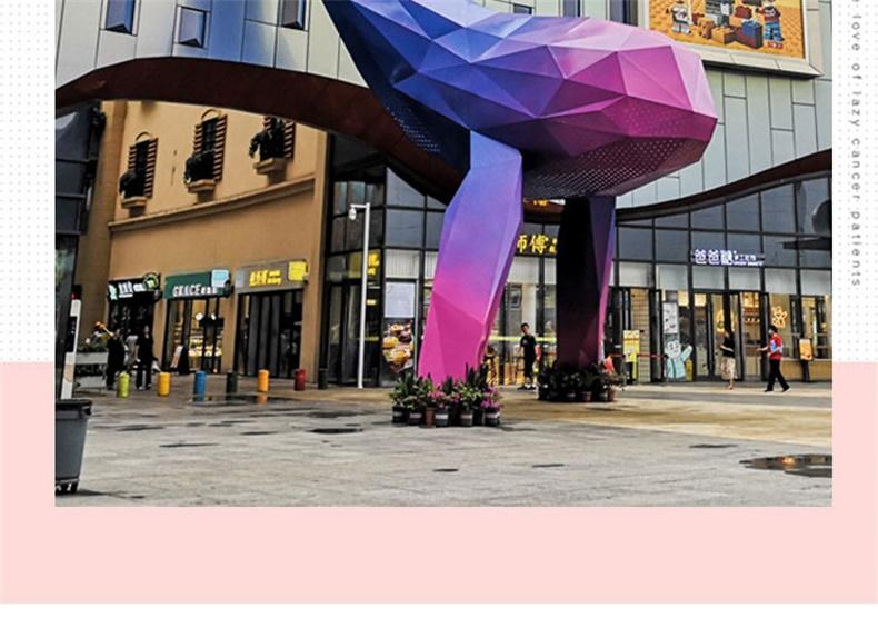鲸鱼玻璃钢雕塑商场酒店售楼部大型摆件