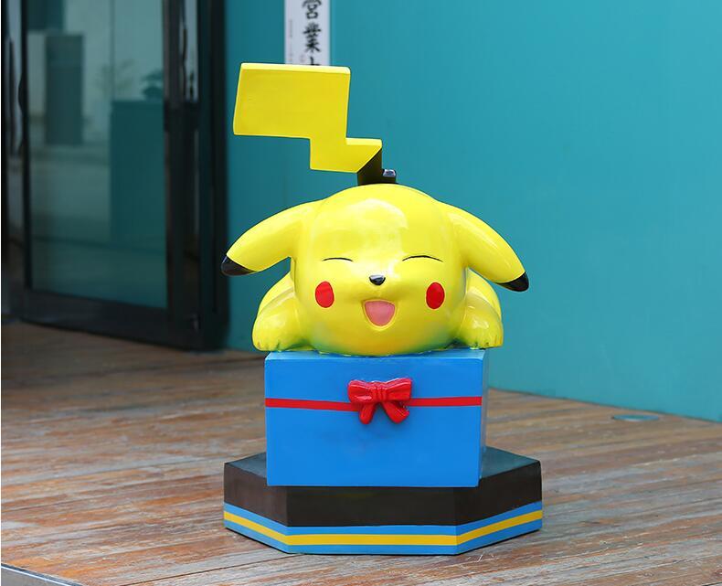 皮卡丘玻璃钢雕塑卡通动漫玩偶摆件