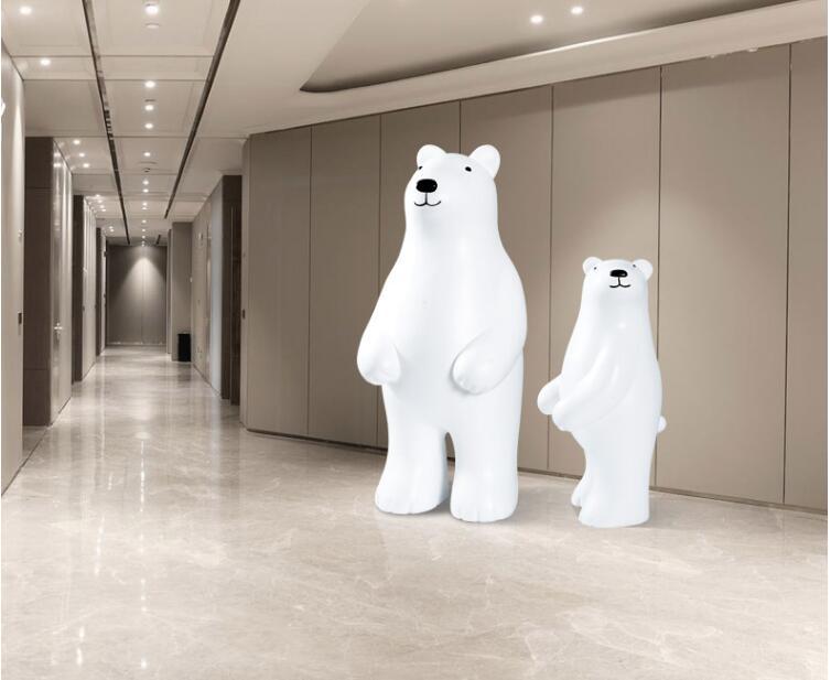 玻璃钢呆萌熊雕塑摆件,现在家庭都喜欢摆放这款熊!