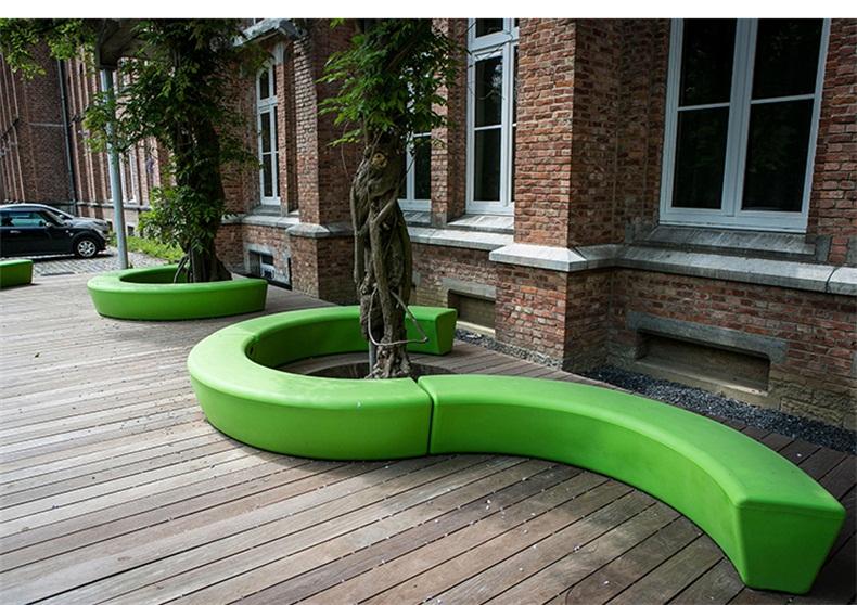 户外玻璃钢长条树池坐凳