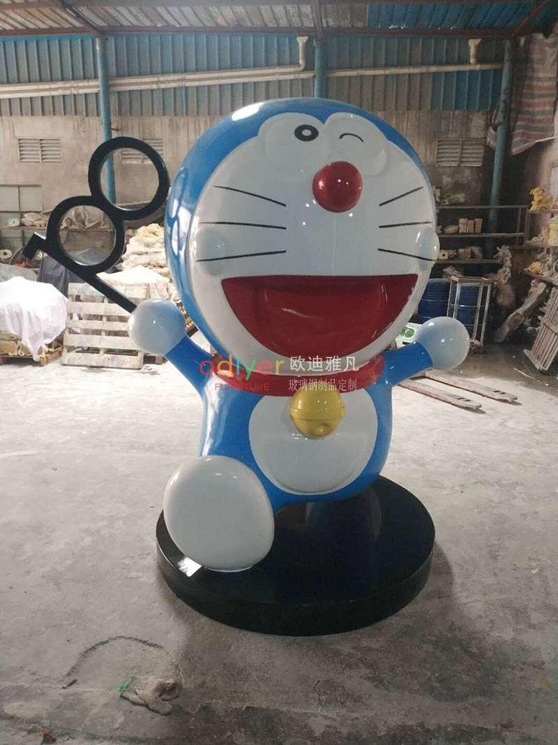 哆啦A梦机器猫玻璃钢卡通雕塑