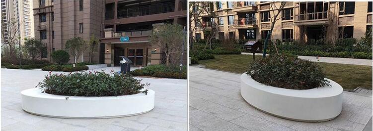 大型玻璃钢户外圆形景观广场花盆