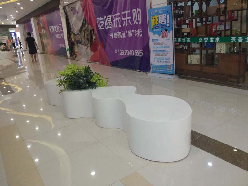 淡水商场玻璃钢前台家具花盆座椅