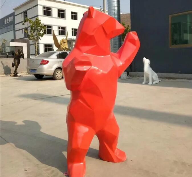 玻璃钢切面熊雕塑,一款很火的雕塑!