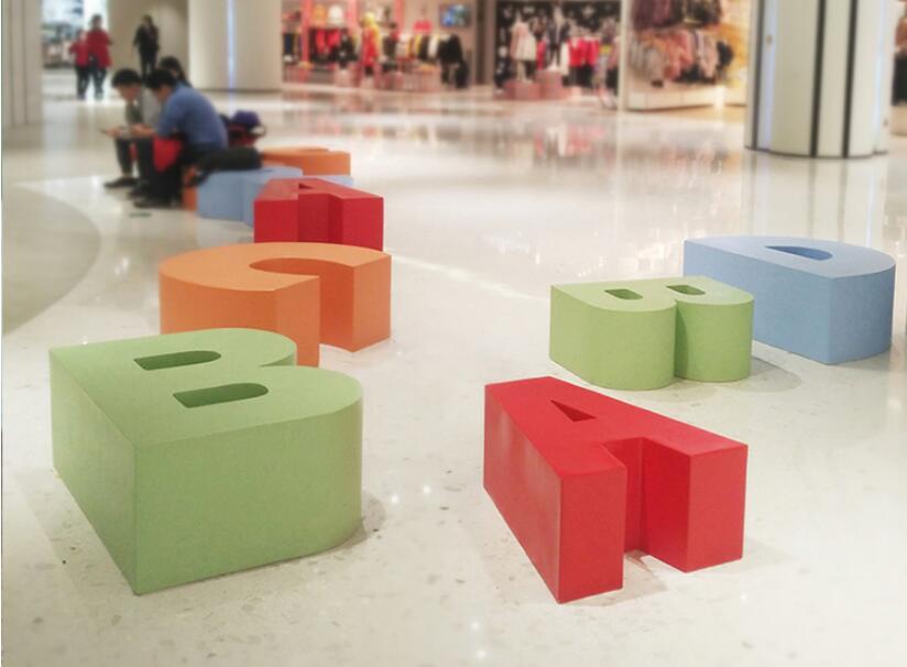 学校、幼儿园都喜欢摆放的玻璃钢坐凳!