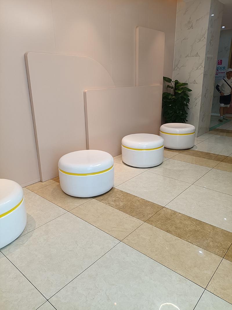 玻璃钢圆形坐凳,漂亮的商场酒店写字楼休闲椅!
