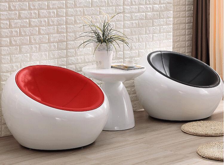玻璃钢家具厂家,生产定制的玻璃钢创意椅半圆球形椅!
