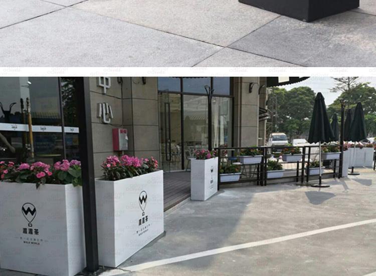 玻璃钢户外长方形花箱街区市政花盆
