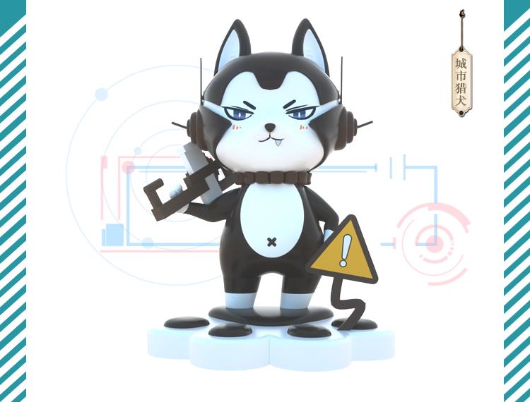 玻璃钢原创IP卡通公仔雕塑动物摆件