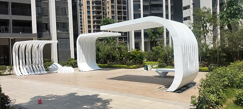 广东惠州定制不锈钢异形户外景观坐凳