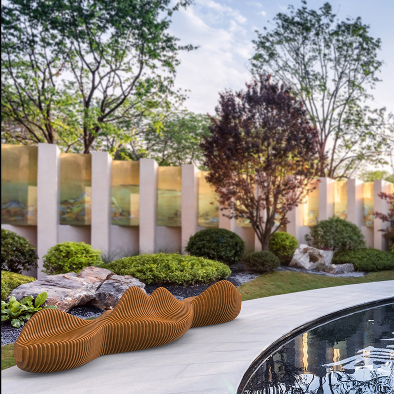 不锈钢景观坐凳,户外艺术坐凳非常受欢迎的款式!