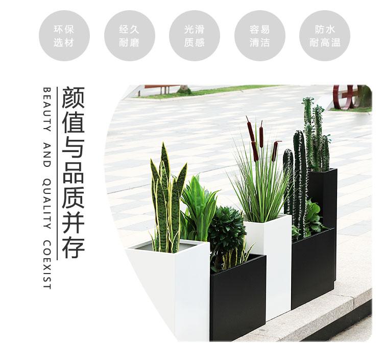 玻璃钢户外方形街区景观花盆